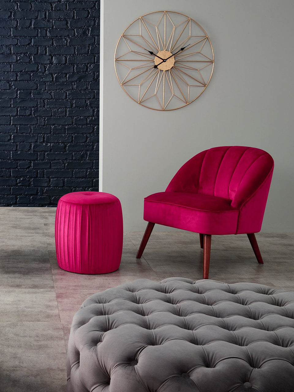 Velvet seating collection