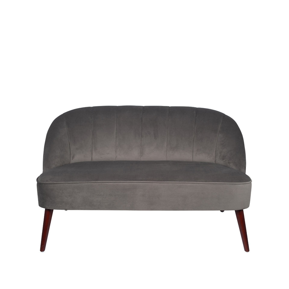 Marini Dove Grey Velvet Sofa
