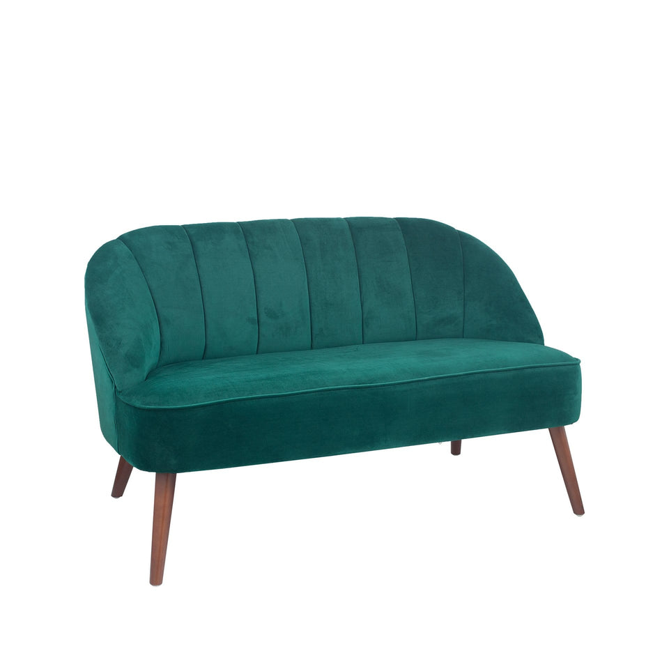 Marini Forest Green Velvet Sofa