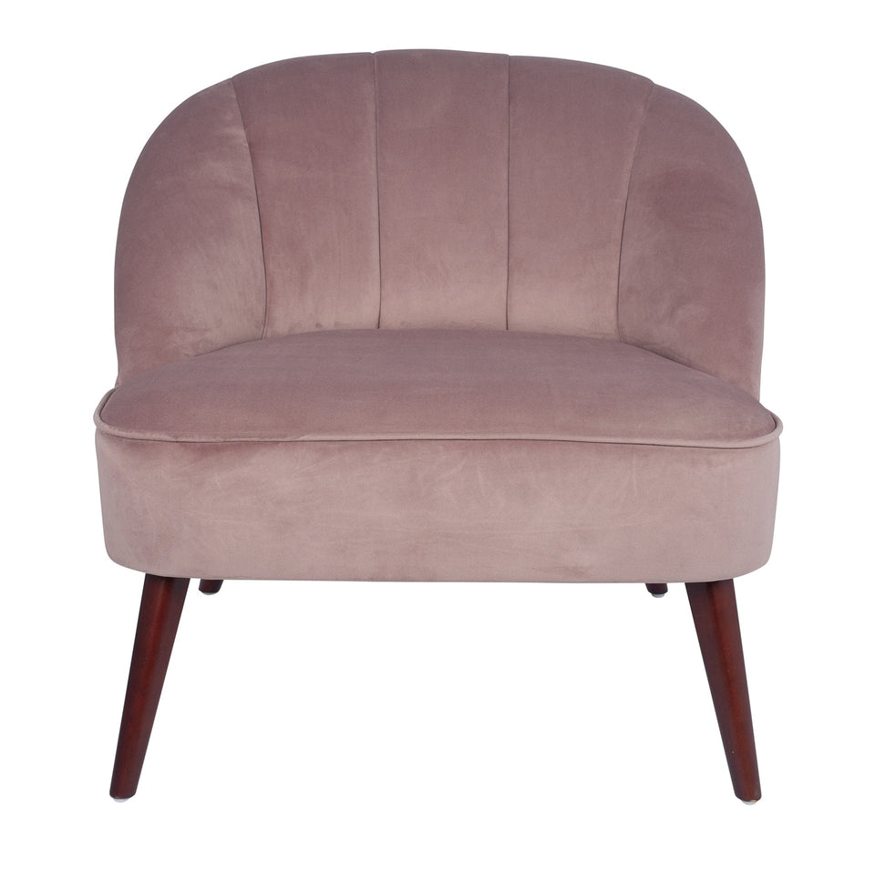 Marini Blush Pink Velvet Cocktail Chair