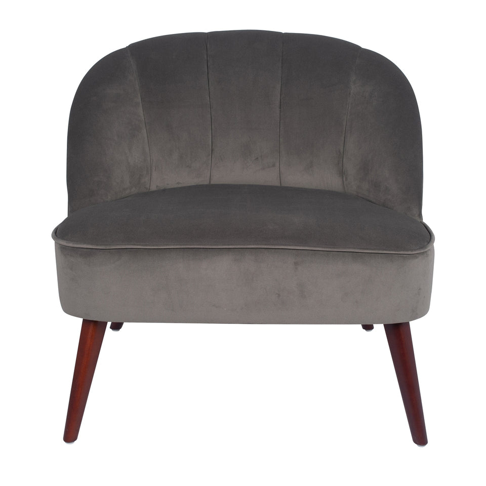 Marini Dove Grey Velvet Cocktail Chair
