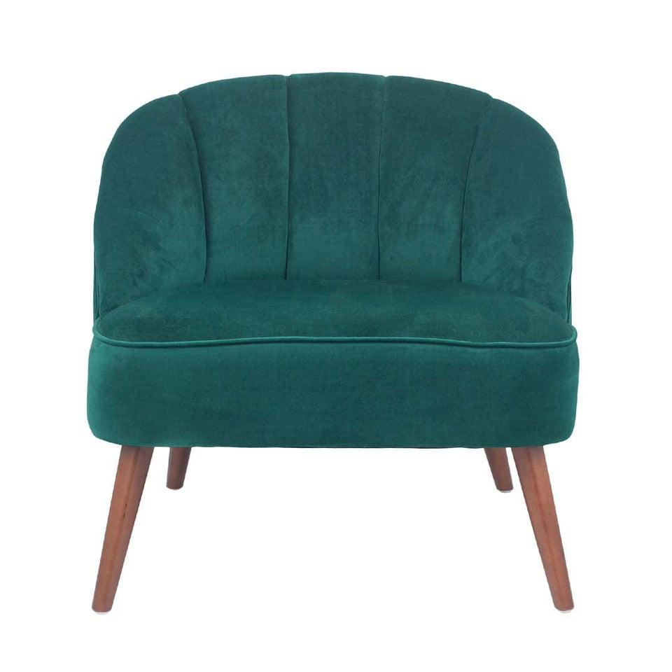 Marini Forest Green Velvet Shell Chair