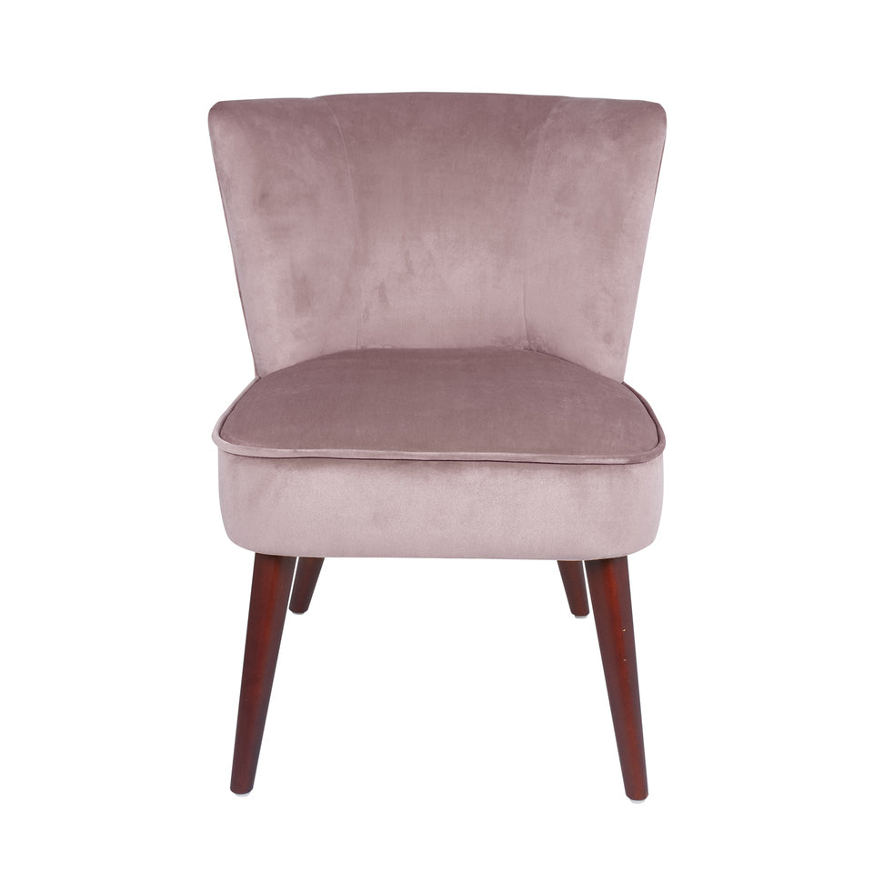 Palermo Blush Pink Velvet Retro Cocktail Chair