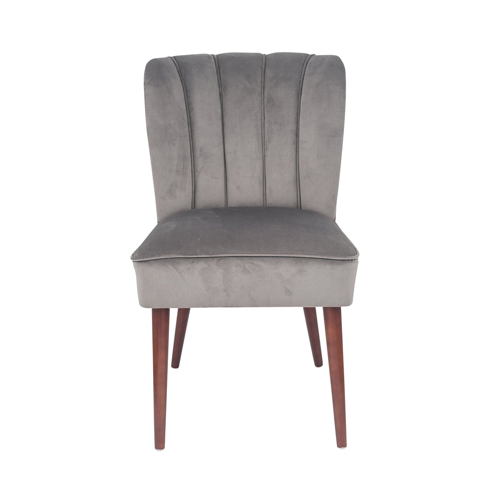 Matera Dove Grey Velvet Dining Chair