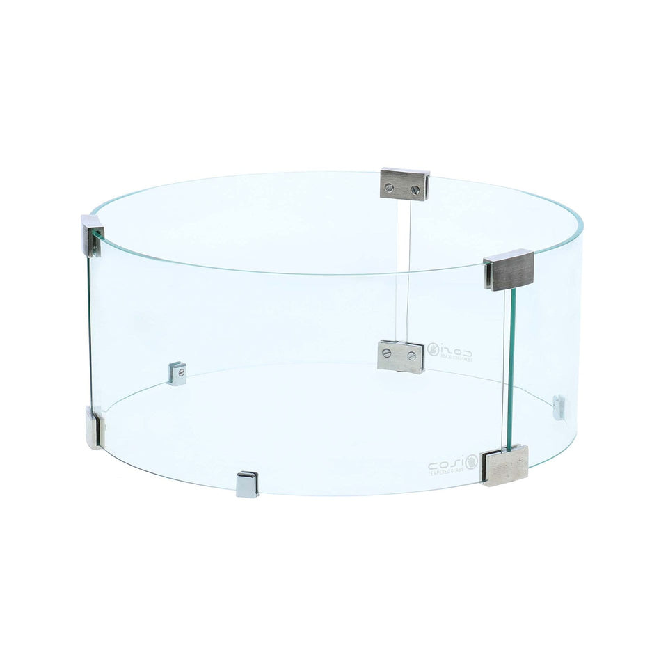 Cosi Round Fire Pit Glass Surround