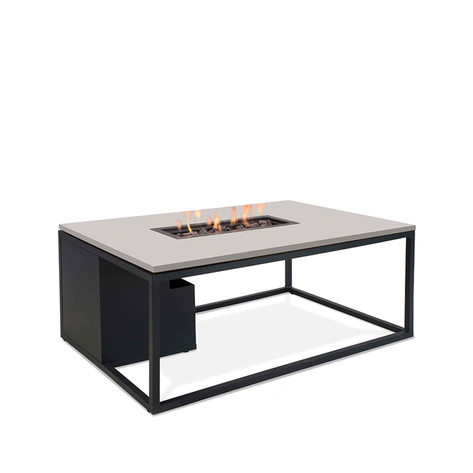 Cosiloft Black & Grey Rectangle Coffee Table Fire Pit