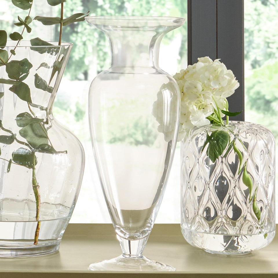 Ronda Clear Glass High Waisted Vase Small
