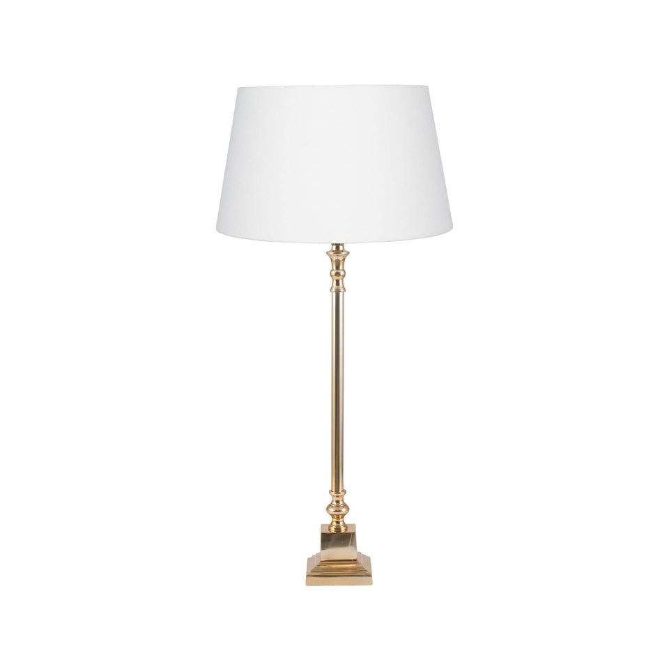 Caesar Gold  Metal Candlestick Table Lamp