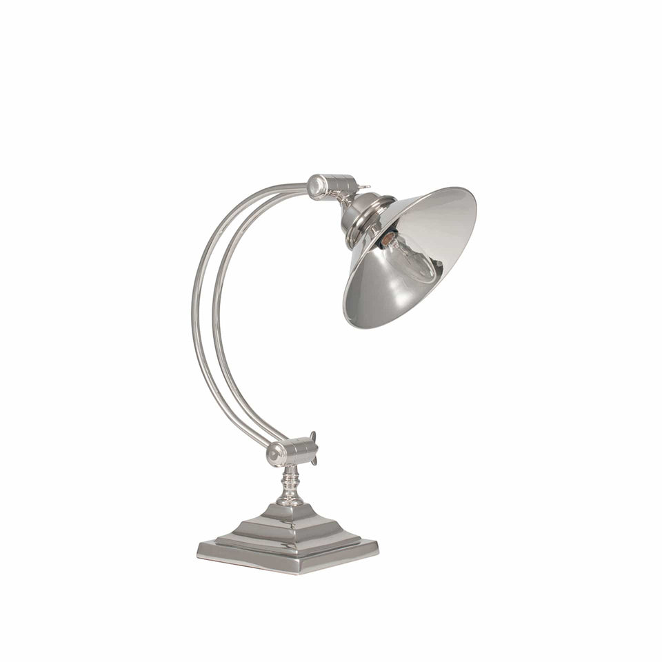 Harlowe Nickel Metal Arched Arm Task Table Lamp