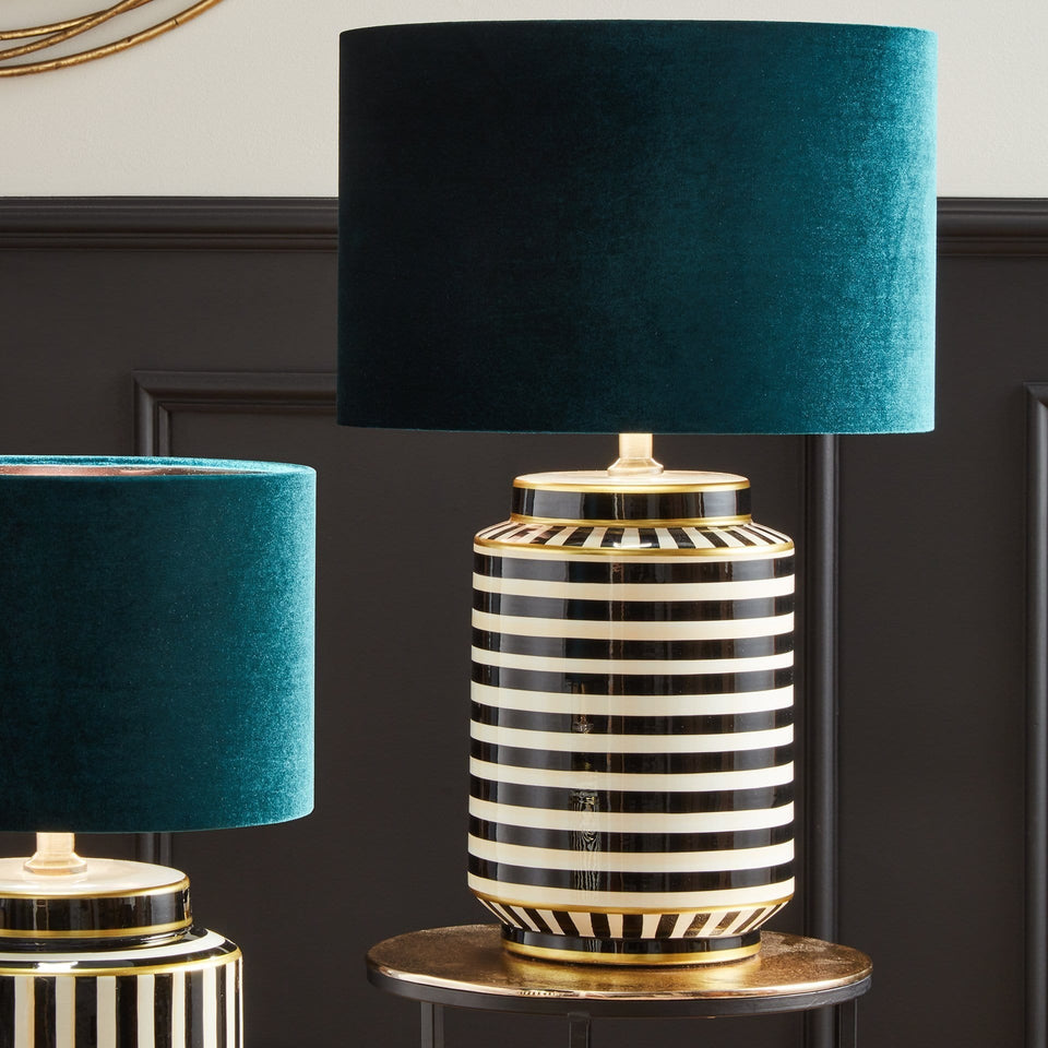 Benedetta Humbug Black and White Tall Table Lamp