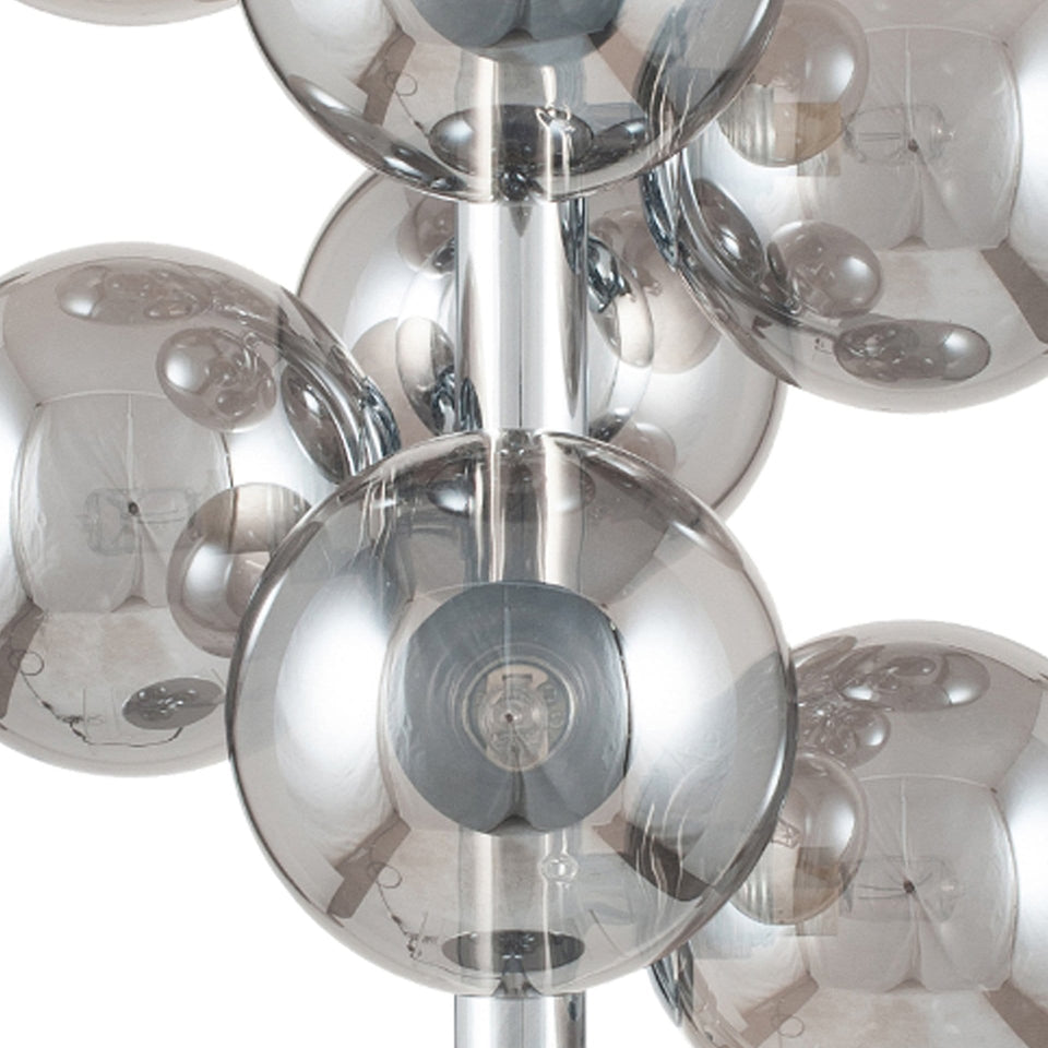 Arbus  Smoke Glass Orb and Chrome Table Lamp