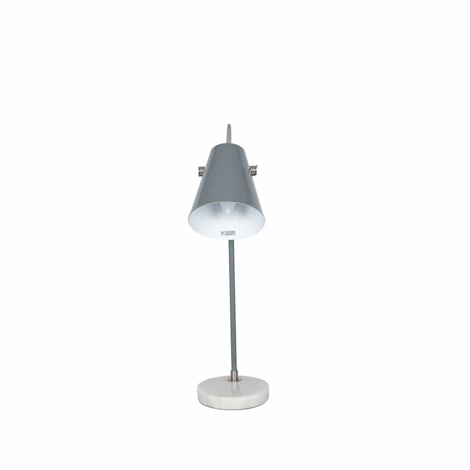 Maya Grey and Satin Nickel Task Table Lamp
