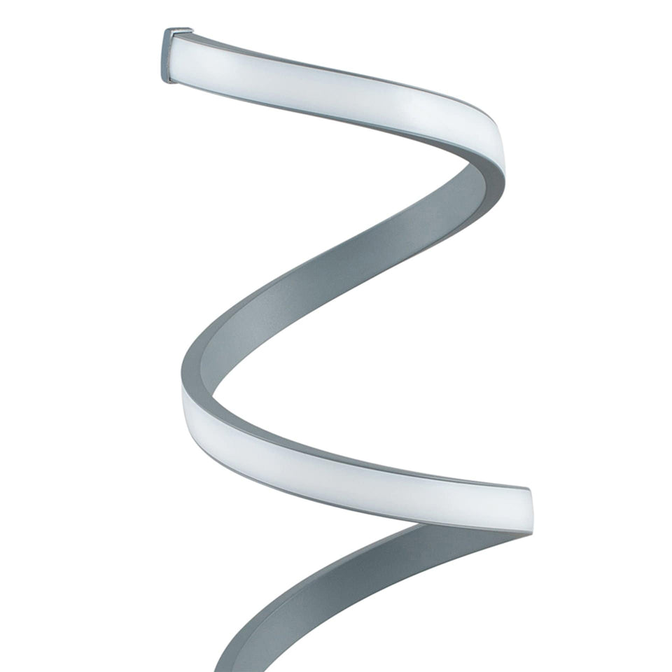 Alpha Grey Spiral Table Lamp