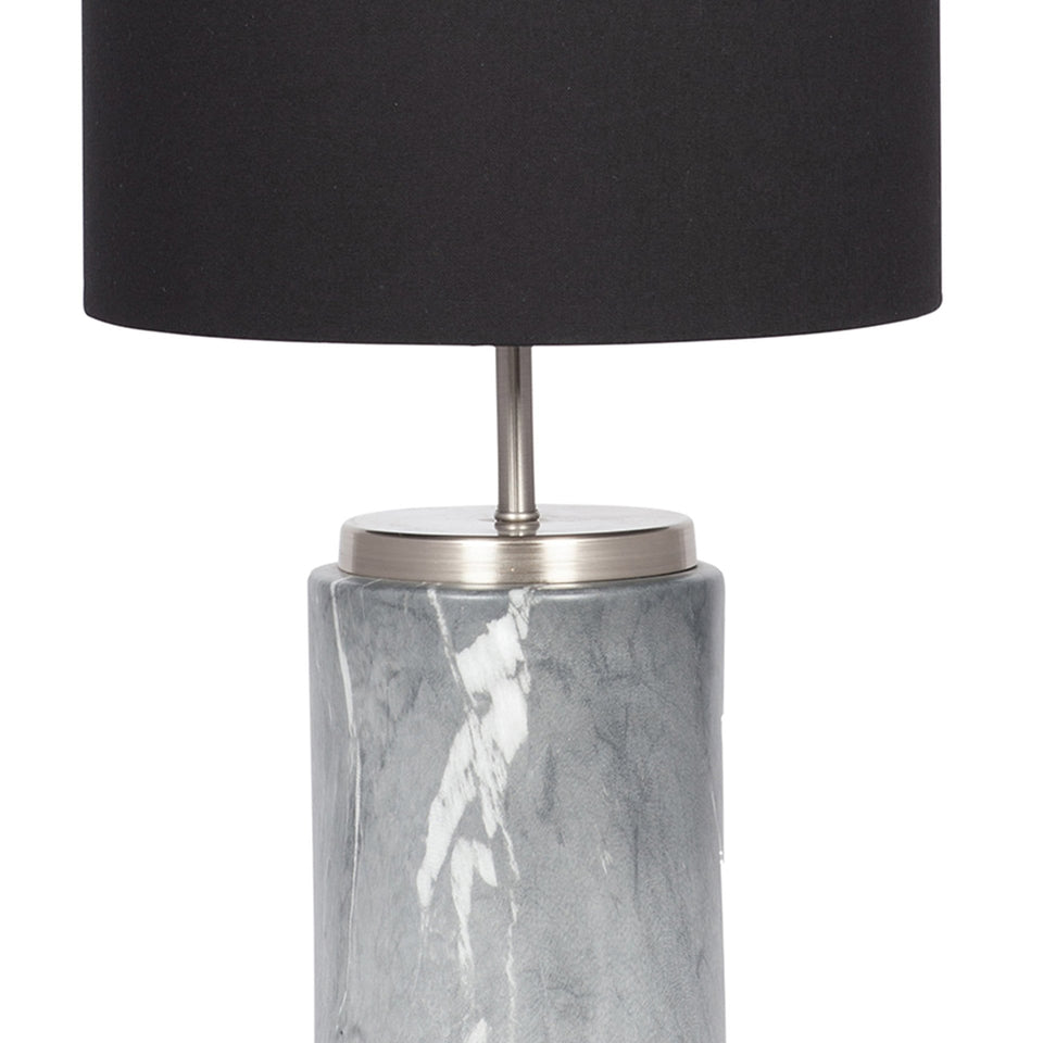 Tate Grey Marble Effect Ceramic Table Lamp