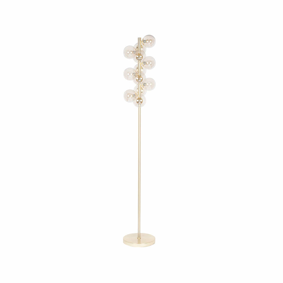 Arbus  Lustre Glass Ball and Gold Floor Lamp