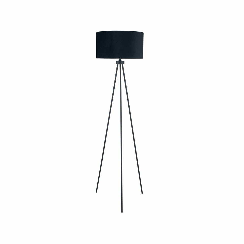 Vitti Matt Black Tripod Floor Lamp
