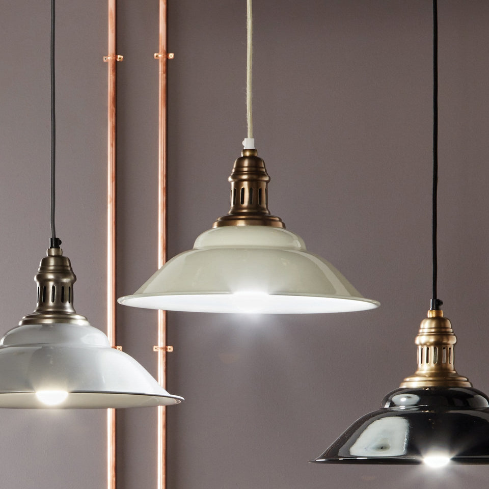 Florian Cream & Gold Pendant Light