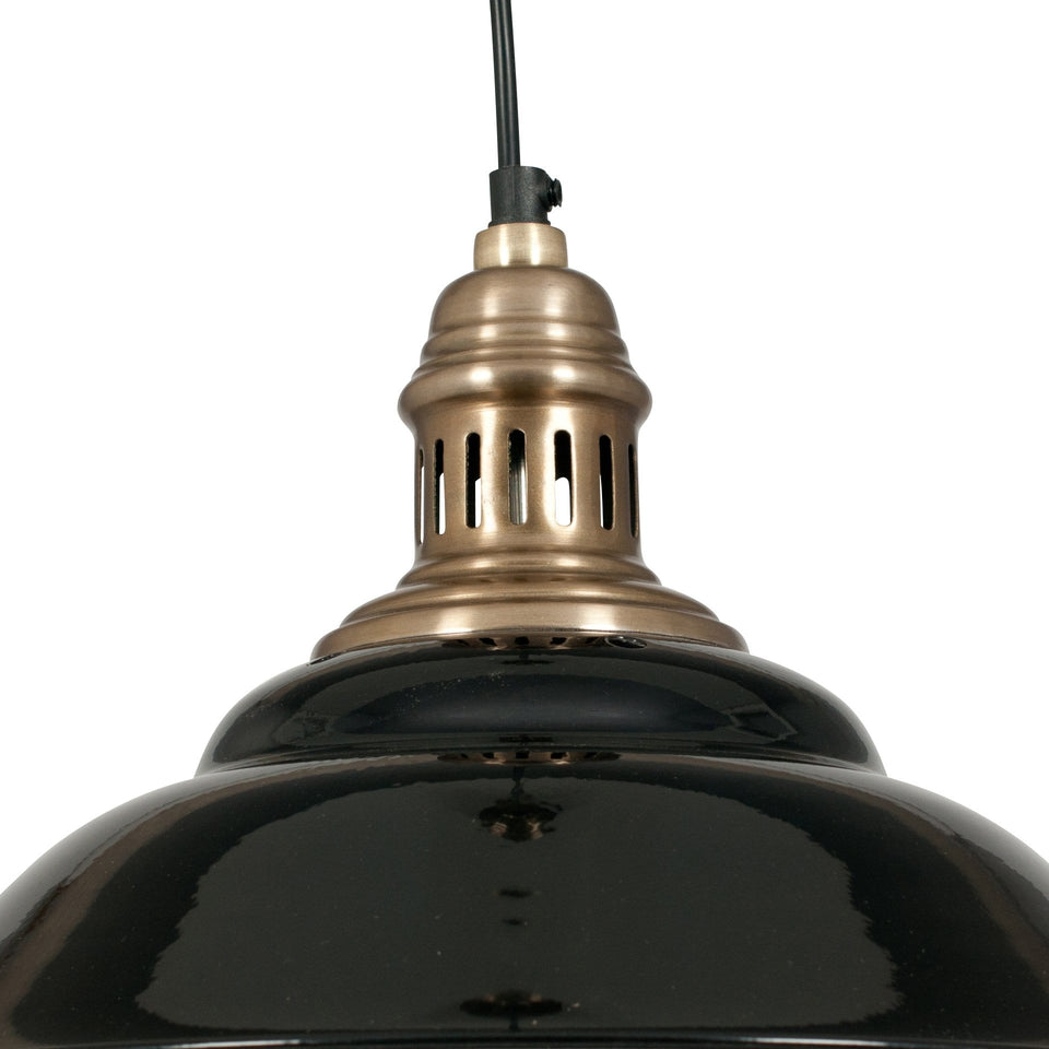 Florian Black & Gold Pendant Light