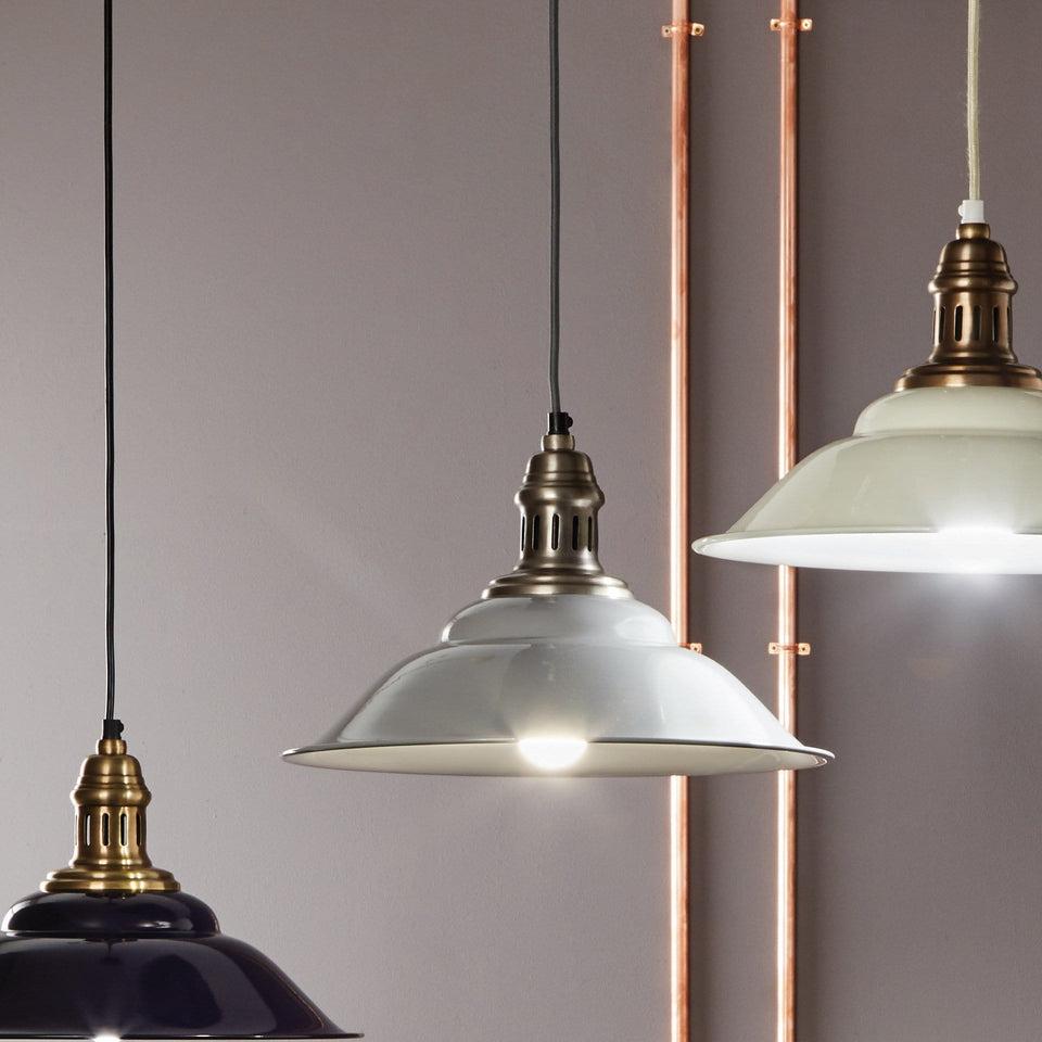 Florian Grey & Silver Pendant Light