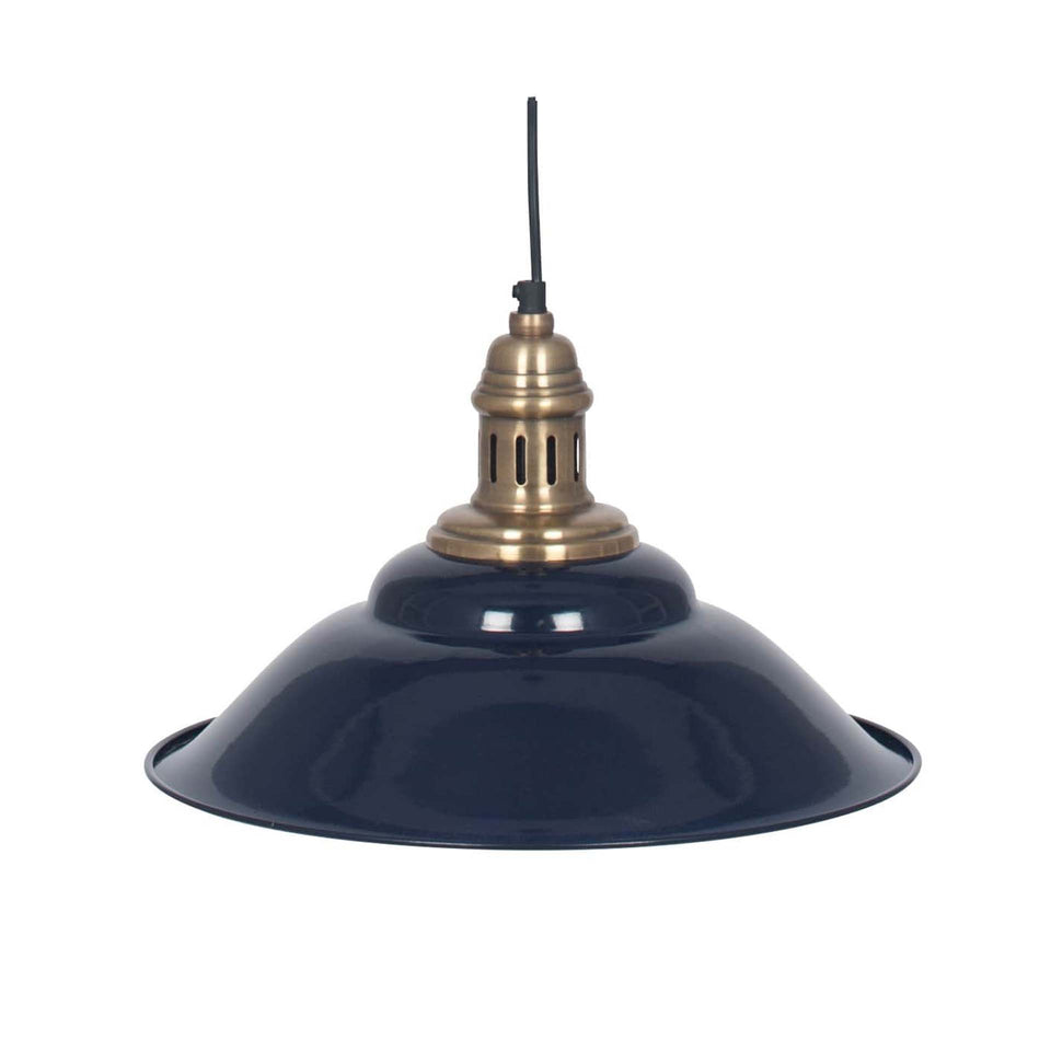 Florian Navy & Antique Brass Pendant Light