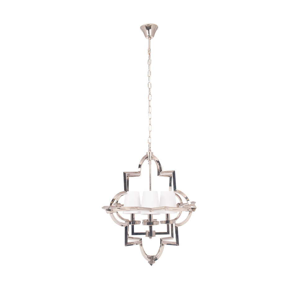 Loren Nickel Metal Four Shade Pendant