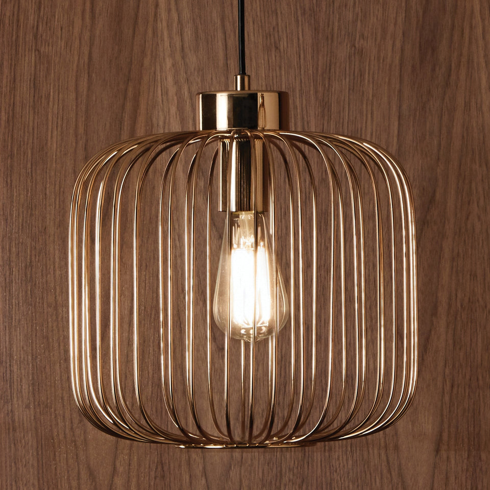 Anneka French Gold Metal Wire Pendant