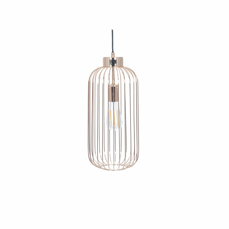 Anneka French Gold Metal Wire Tall Pendant