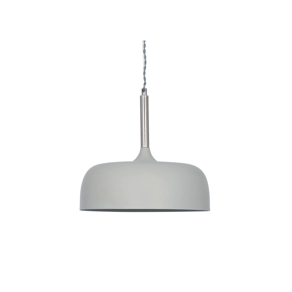 Gerda Matt Grey Domed Metal Pendant