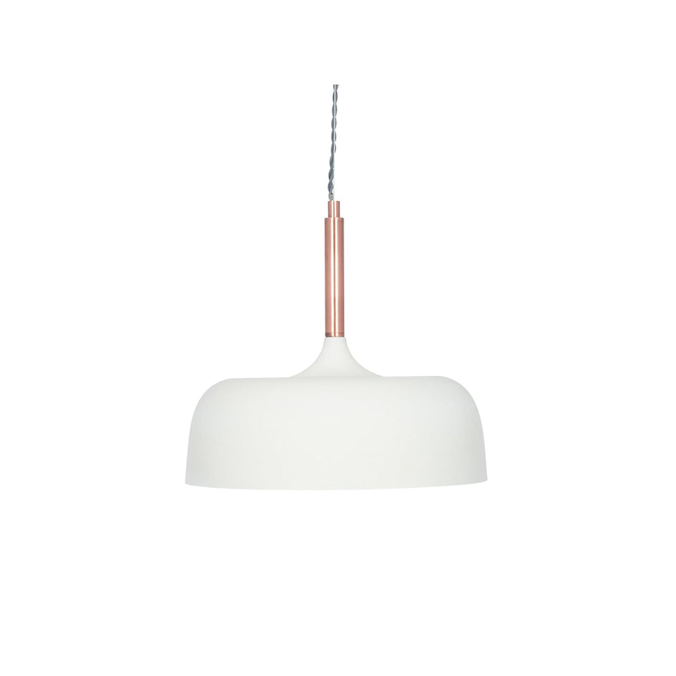 Gerda Matt Cream Domed Metal Pendant