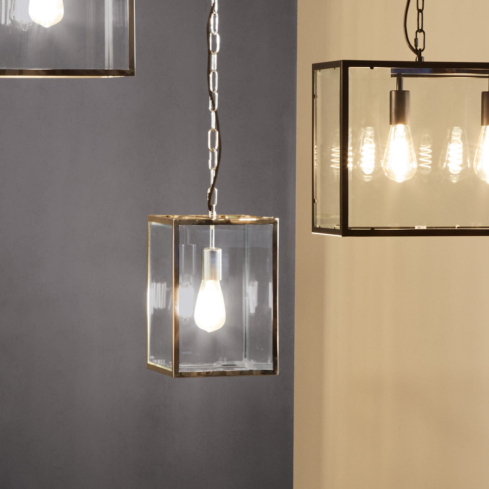 Harpenden Silver Metal & Glass Pendant Light