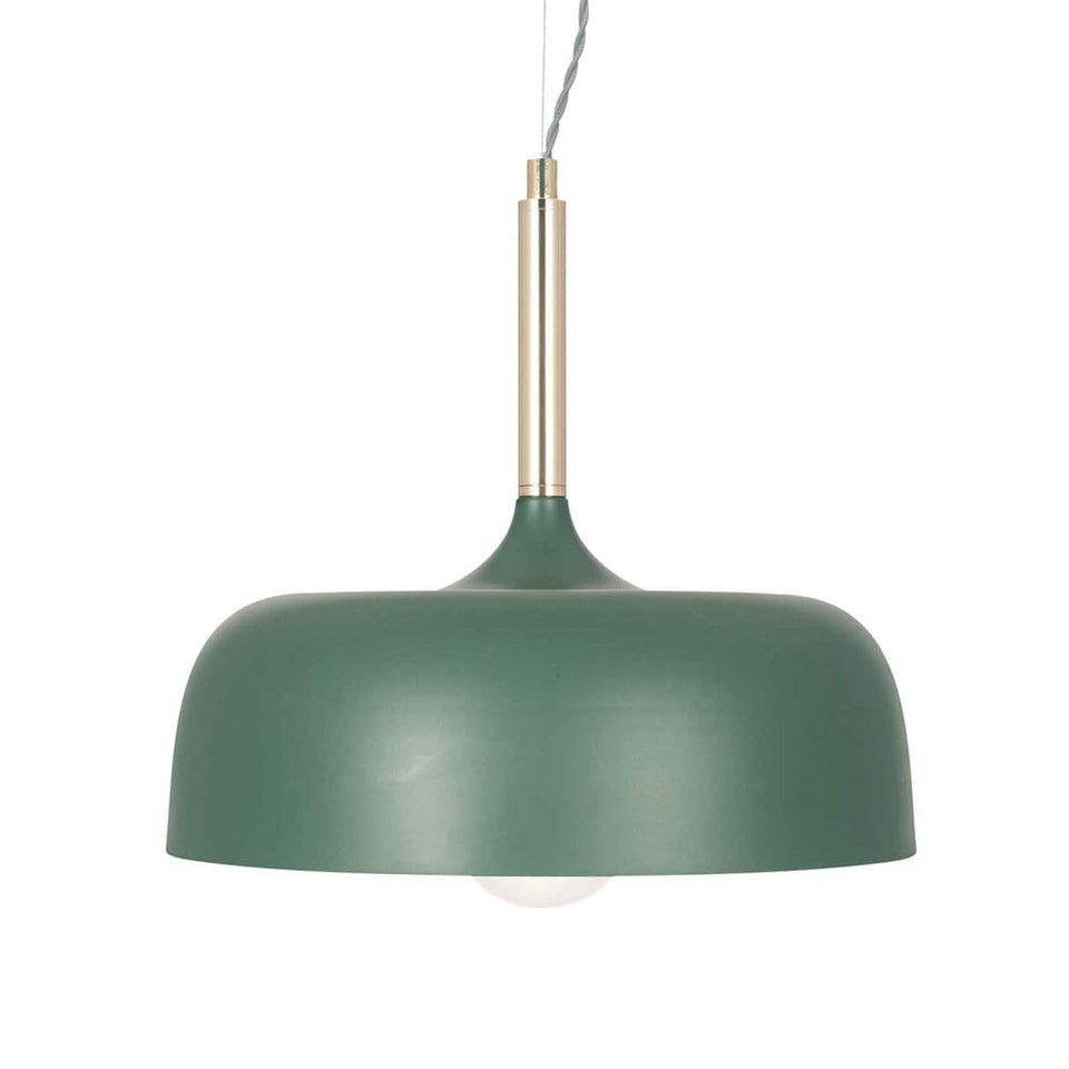 Gerda Matt Bottle Green Domed Pendant Light