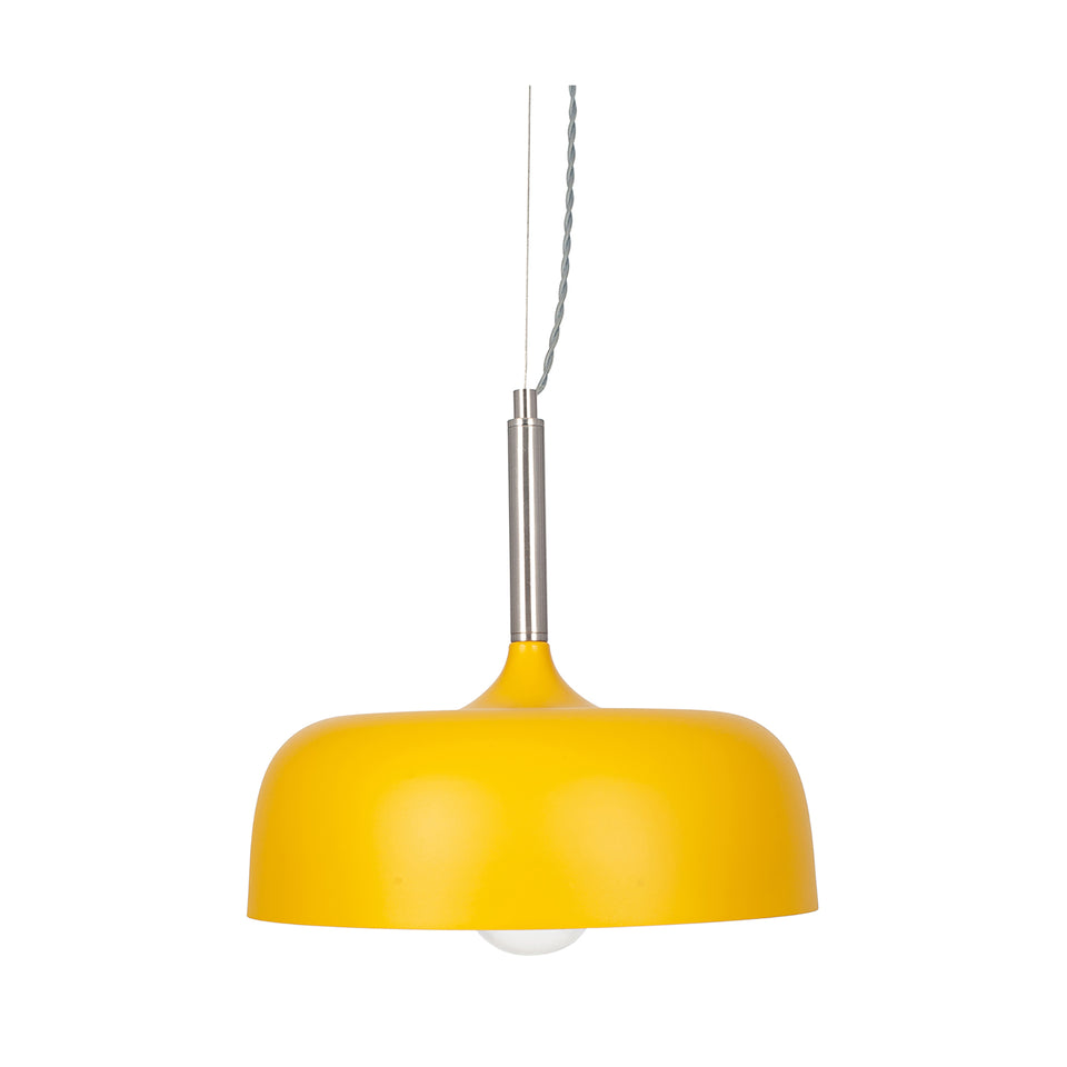 Gerda Matt Mustard Domed Pendant Light