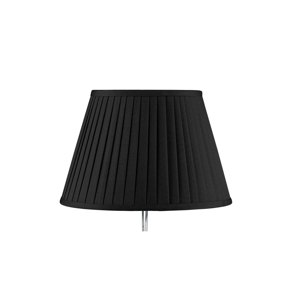 Knightsbridge Black Poly Cotton Knife Pleat Shade