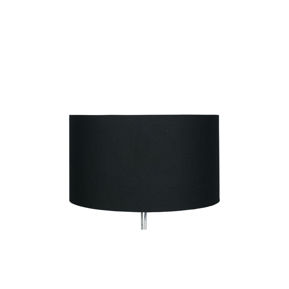 Goodwood Black Poly Cotton Cylinder Drum Shade