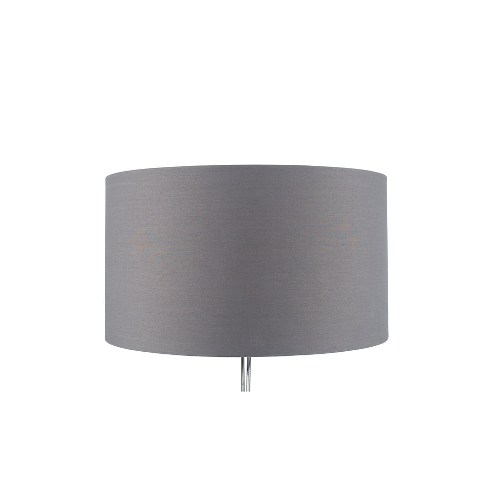 Goodwood Steel Grey Poly Cotton Cylinder Shade