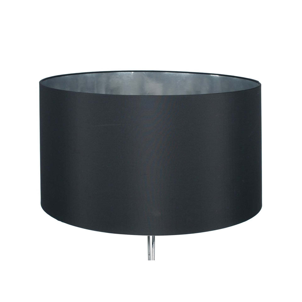 Larousse Black Cylinder Shade with Silver Inner