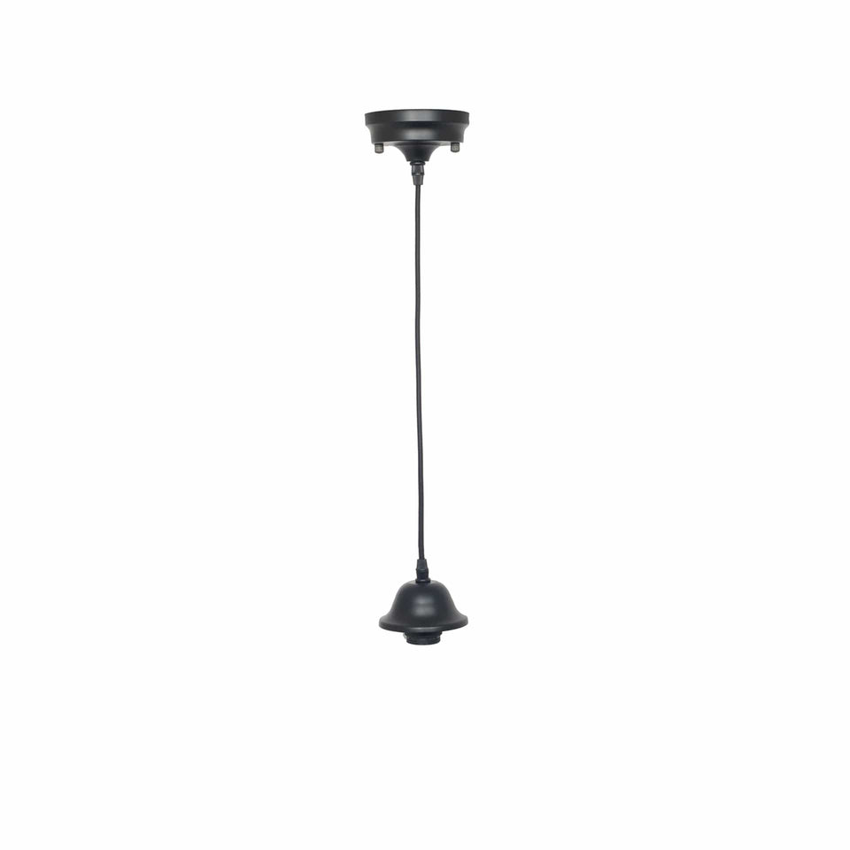 Bianca Black Retro Electrified Ceiling Fitting