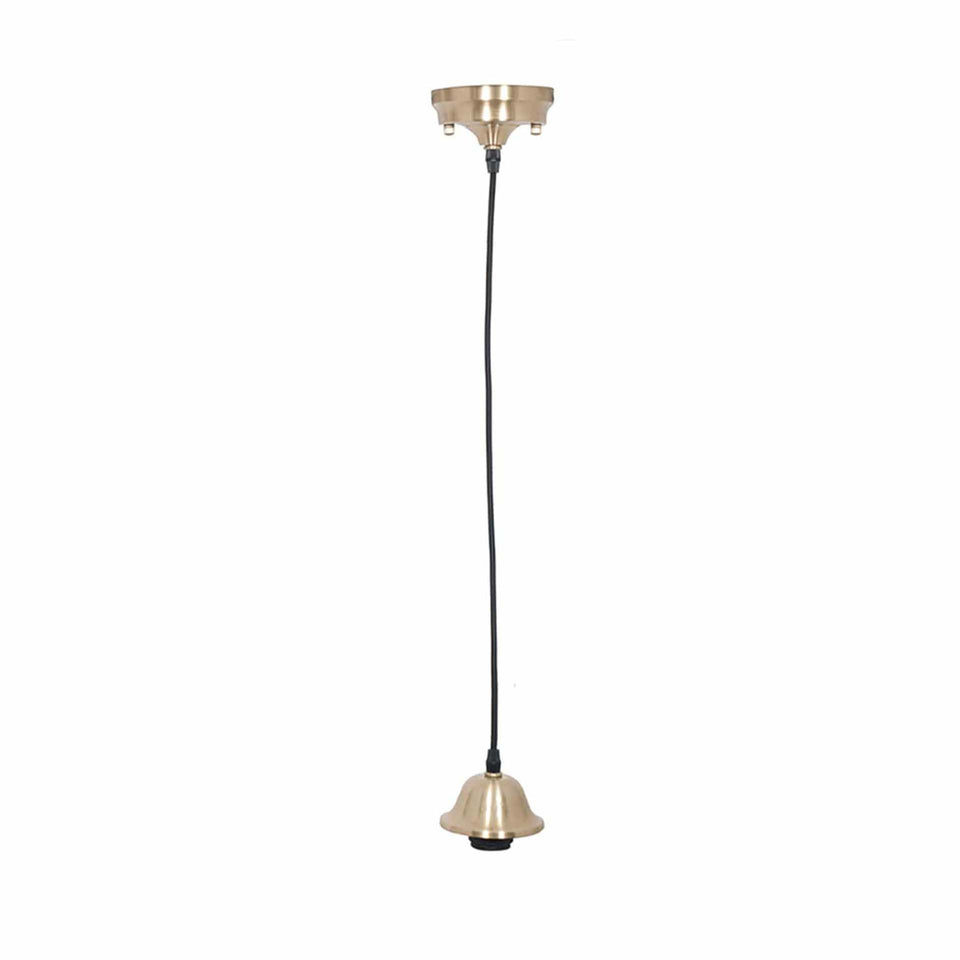 Bianca Champagne Retro Electrified Ceiling Fitting