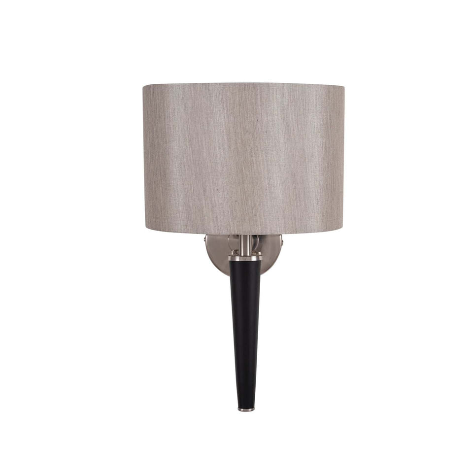 Jozef Brushed Silver and Matt Black Metal Wall Lamp
