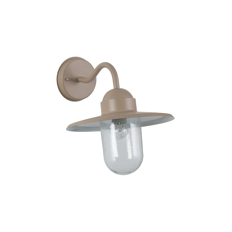 Solander Taupe Metal and Glass Fisherman Wall Light