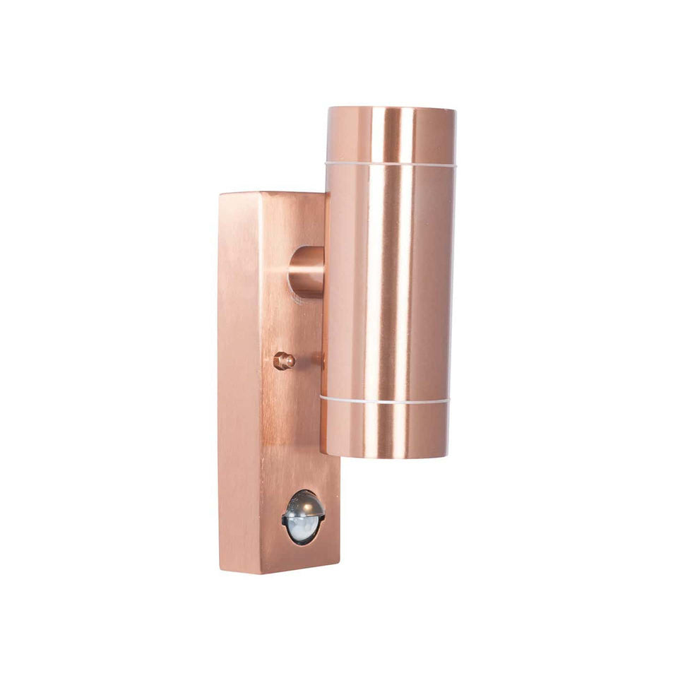 Olsson Copper Metal Dual PIR Wall Light