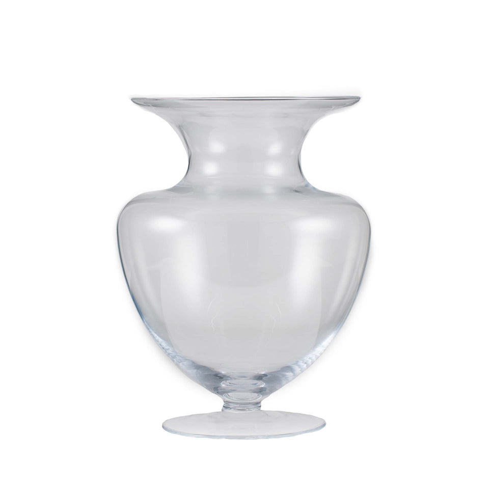 Girona Clear Glass Waisted Vase