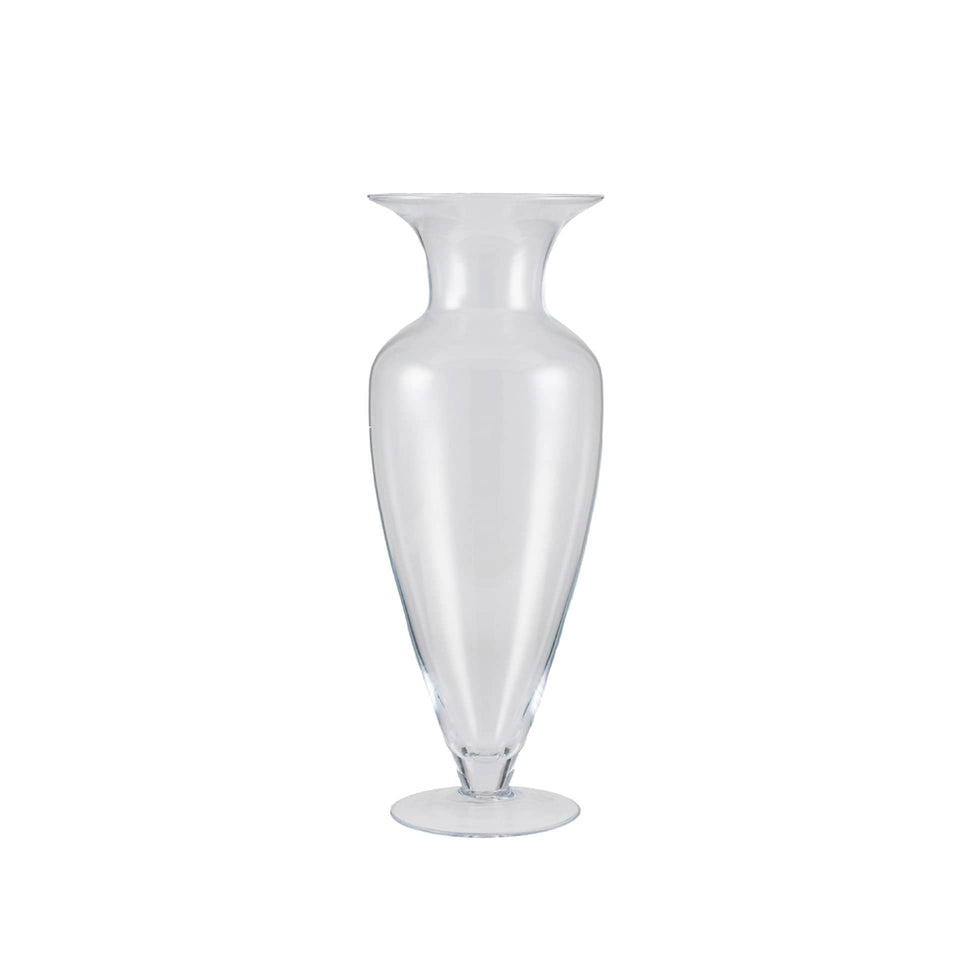 Ronda Clear Glass High Waisted Vase Tall