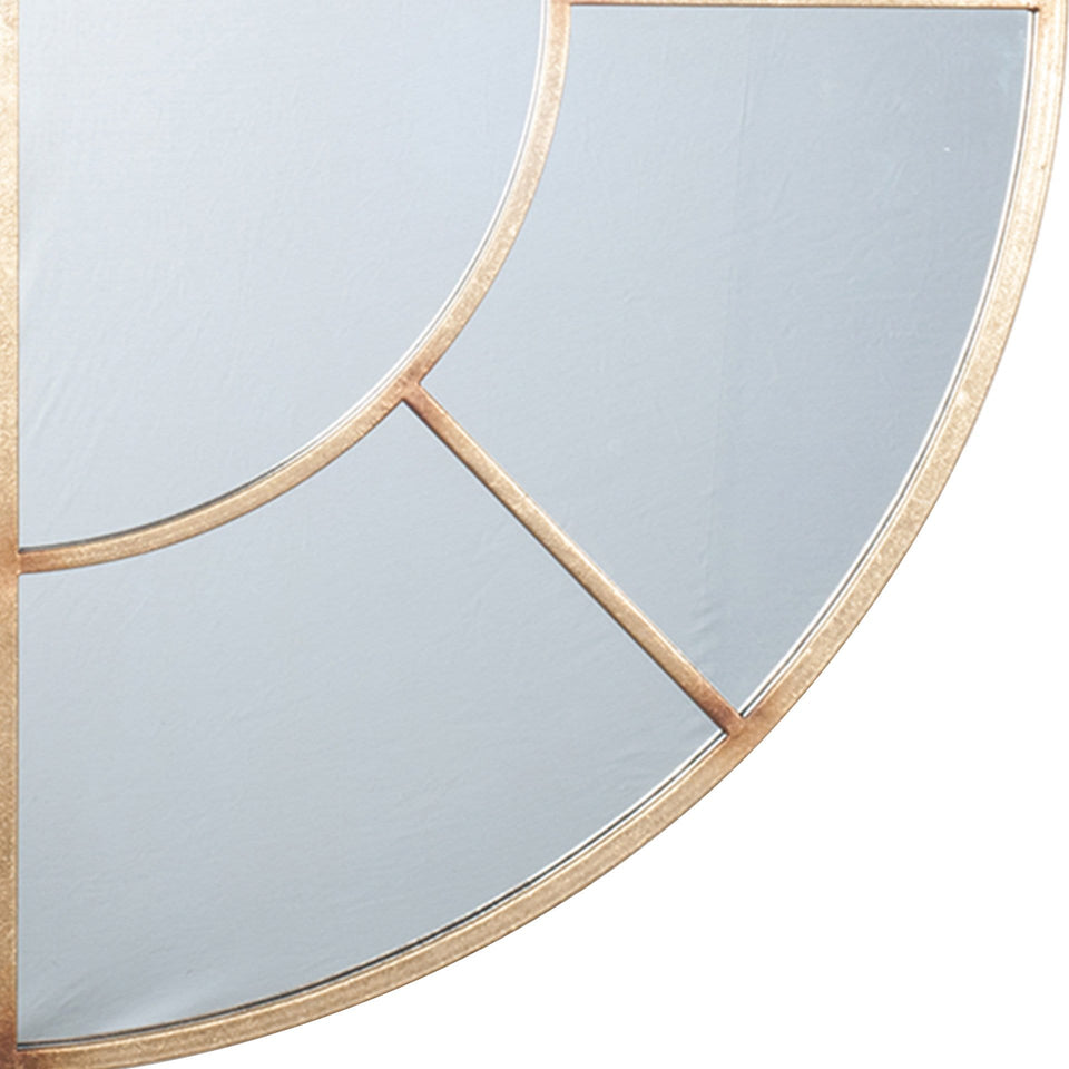 Eros Antique Gold Metal 2 Oval Section Wall Mirror