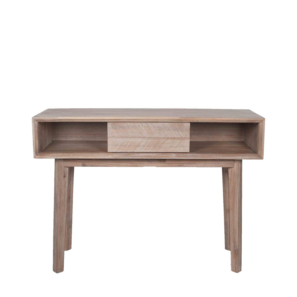 Herning Sand Wash Acacia Wood 1 Drawer Console K/D