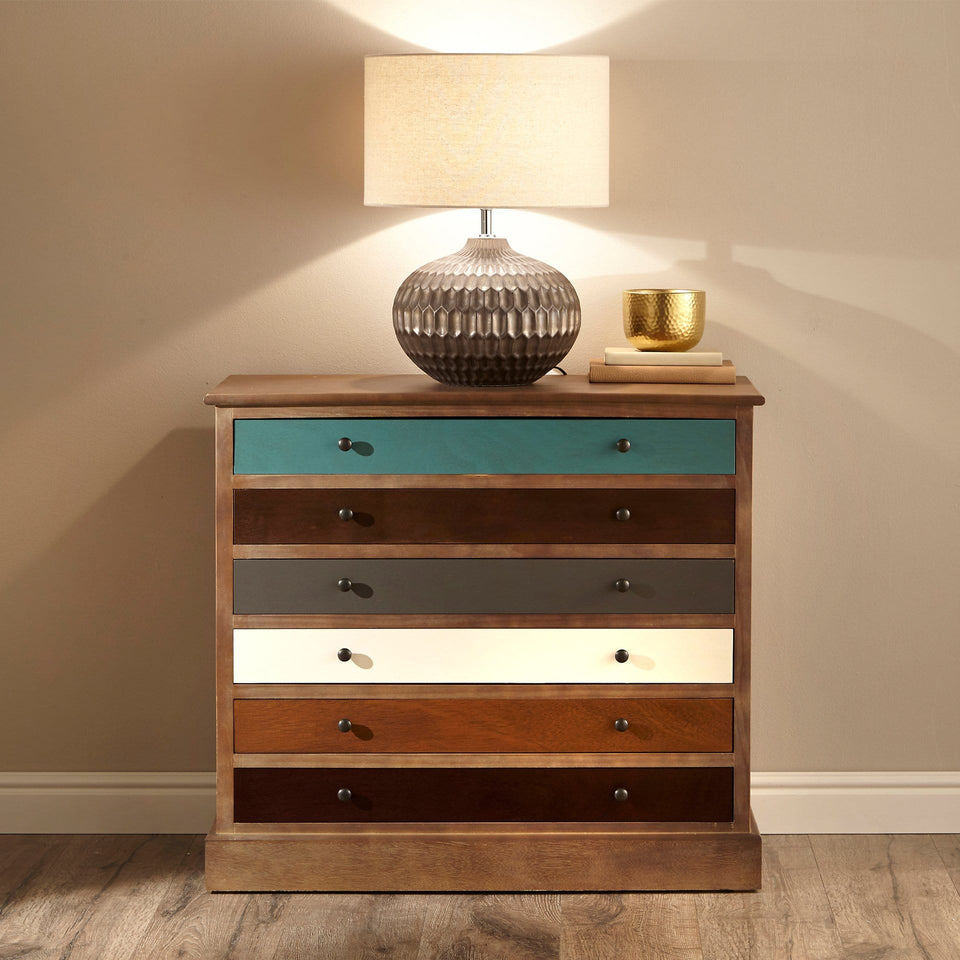 Staten 6 Drawer Pine Wood Chest Of Drawers
