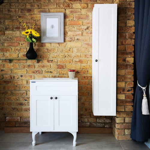 Hampshire Bathroom - Vanity Set With Drop In Basin and Side Cabinet