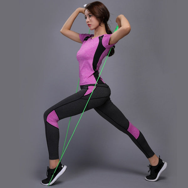 TShirt + Pants Breathable Gym Workout Clothes
