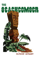 Beachcomber (Not Don's) Drink Menu Tiki Art Reproduction T-Shirt