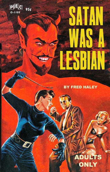 Satan Was A Lesbian Pulp Novel Cover Reproduction Poster/Print/Card